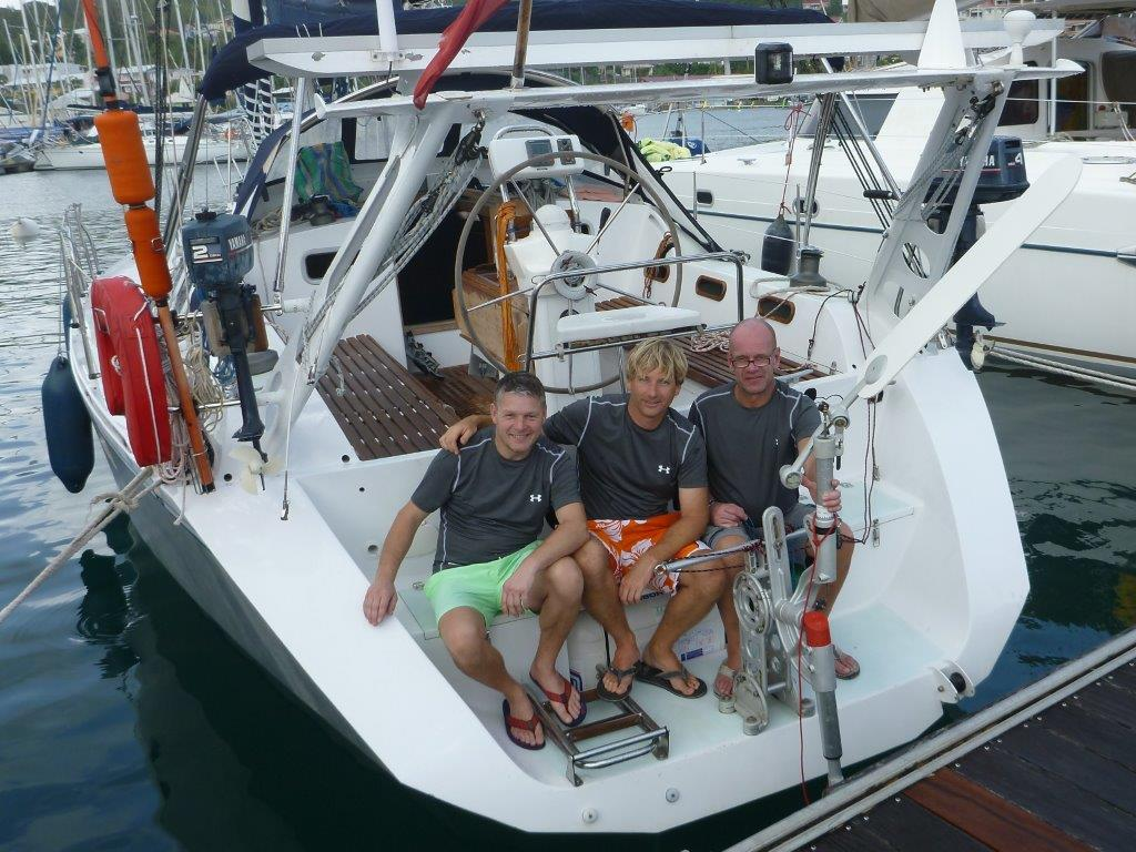 Crew 2014 kurz vor dem Ablegen in Martinique